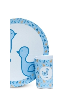 CUP AND PLATE IN BLUE