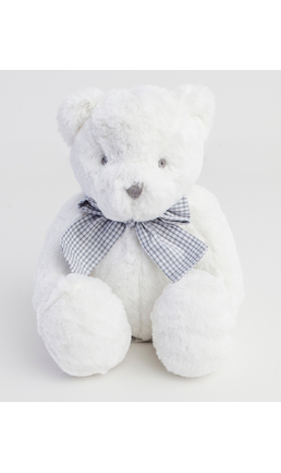 White Bear with check bow